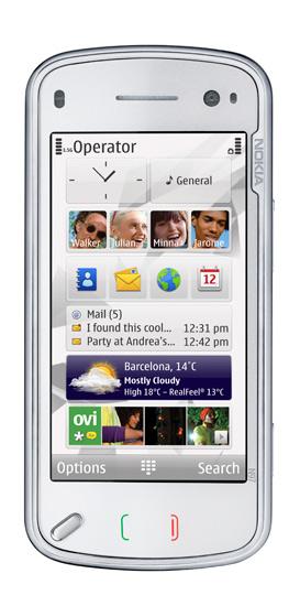 l'écran d'accueil du N97. Bien pensé (et personnalisable) mais pas toujours réactif.