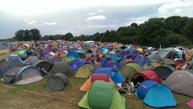 Le camping a fait le plein.