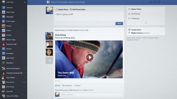 Facebook, nouveau look