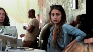 Panique dans un coffee shop pour promouvoir le film Carrie